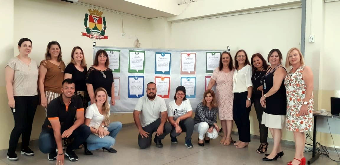 The Brazil LVE team with school management and teachers