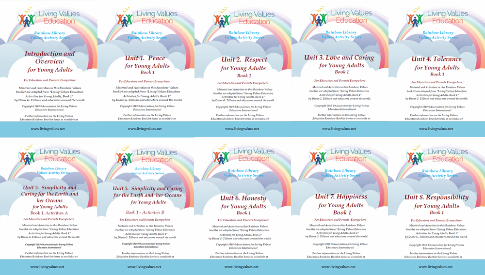 Rainbow Library Activities Booklets for Young-Adults Book 1