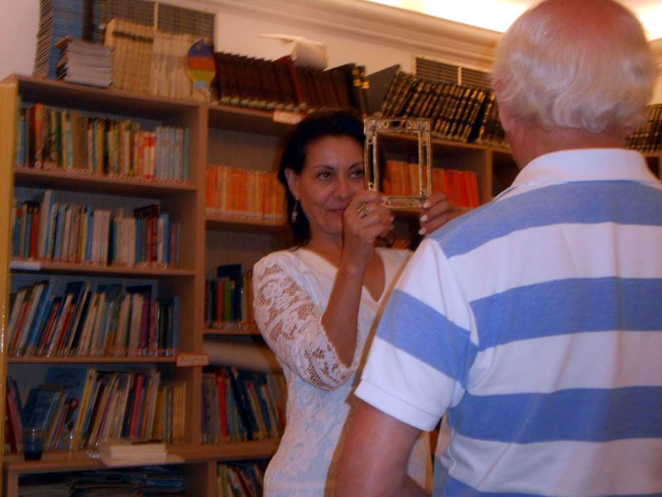 Living Values Education activities at Xenopoulios Library in Zante with four teachers from Kefalonia